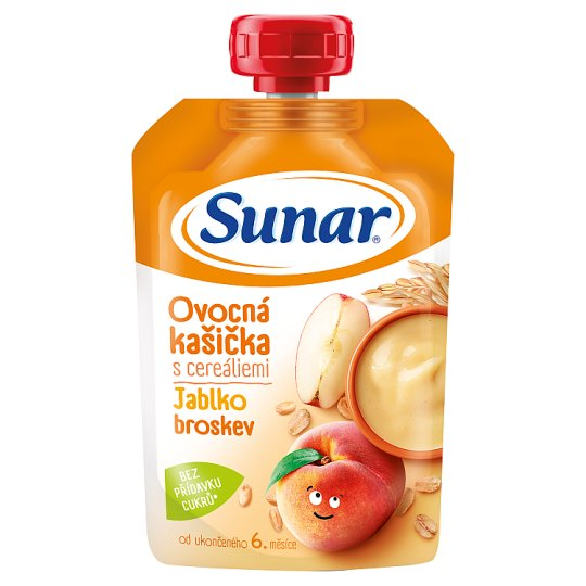Sunárek Mash with Cereals, Apples and Peaches 120 g