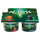 Danone Activia Yogurt Strawberry, Blueberry 4 x 120 g