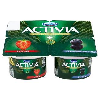 Danone Activia Yogurt Strawberry, Blueberry 4 x 120 g