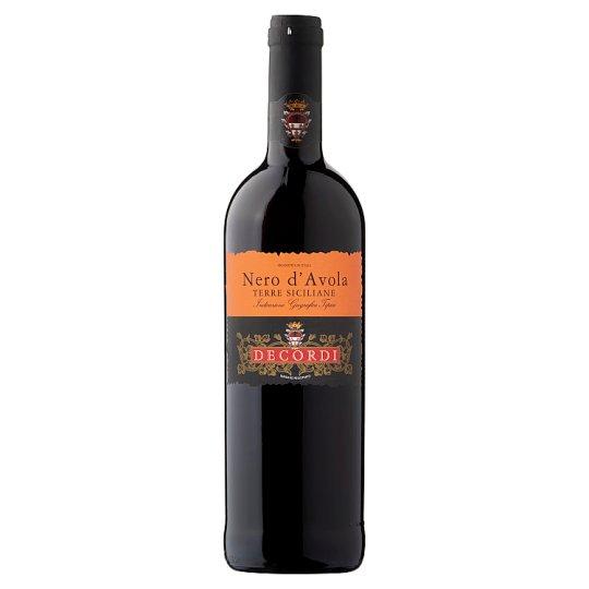 Decordi Nero D'Avola Terre Siciliane IGT plné okrúhle červené víno 0,75 l
