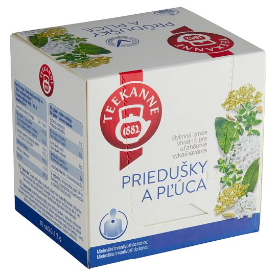 TEEKANNE Dust and Lungs, Herbal Mixture, 10 Bags, 20 g