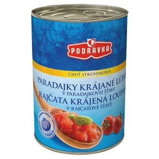 Podravka Tomatoes Sliced Peeled in Tomato Juice 400 g