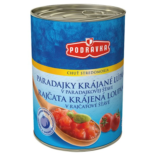 Podravka Tomatoes Sliced Peeled in Tomato Juice 400 g