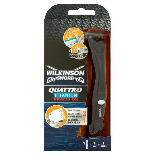 Wilkinson Sword Quattro Titanium Precision holiaci strojček so 4 čepieľkami