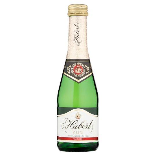 Hubert Club Akostné šumivé víno biele polosladké 0,2 l