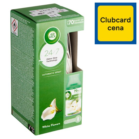 Air Wick Freshmatic Essential Oils difuzér a náplň do osviežovača vzduchu biele kvety frézie 250 ml