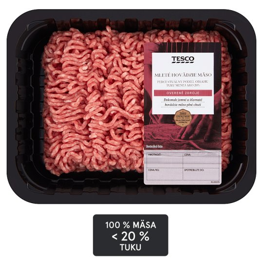 Tesco Beef Mince Meat 20% Fat 500 g