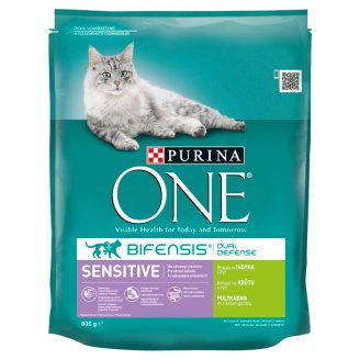 Purina ONE Sensitive bohaté na morku a ryžu 800 g