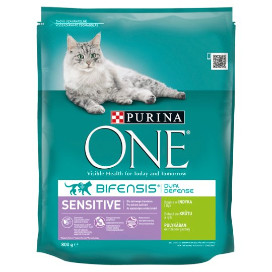 Purina ONE Sensitive Rich in Turkey & Rice 800 g