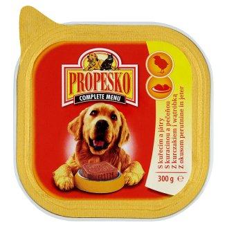 Propesko Kompletné krmivo pre dospelých psov s kuracinou a pečeňou 300 g