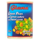 Giana Peas with Carrots and Corn in Brine 380 g