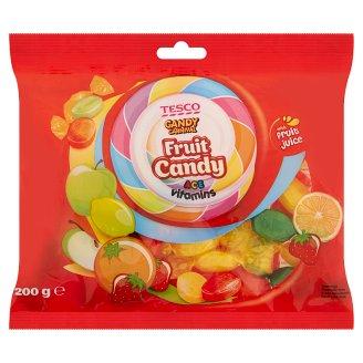 Tesco Candy Carnival Ovocné cukríky s vitamínmi A C E s náplňou 200 g