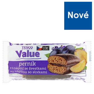 Tesco Value Gingerbreads with Plums 60 g