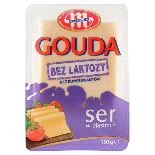 Mlekovita Prírodný polotvrdý syr gouda bez laktózy plátky 150 g