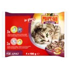 Propesko Complete Food for Adult Cats of All Breeds 4 x 100 g