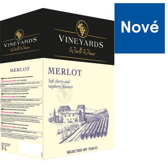 Vineyards World Wines Merlot červené víno suché 3 l