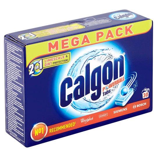 Calgon Powerball 2 v 1 tablety - zmäkčovač vody 30 ks 390 g