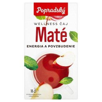 Popradský Wellness Čaj maté energia a povzbudenie 18 x 2 g