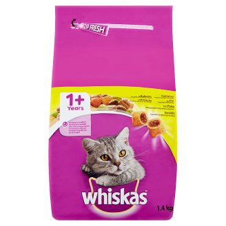 Whiskas Chutné plnené granule s kuracím 1.4 kg