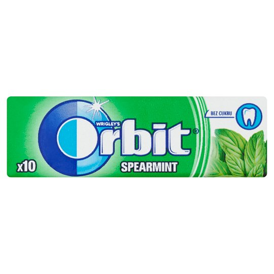 Wrigley's Orbit Spearmint Sugar Free Gum 10 pcs 14 g