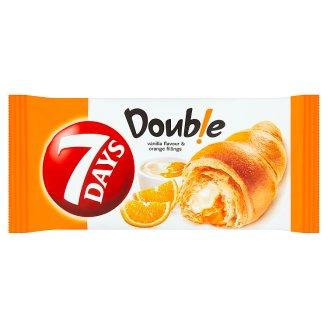 7 Days Double Croissant s náplňou s vanilkovou príchuťou a s pomarančovou náplňou 60 g