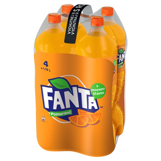 Fanta, Orange Lemonade, 4 x 1.75 L