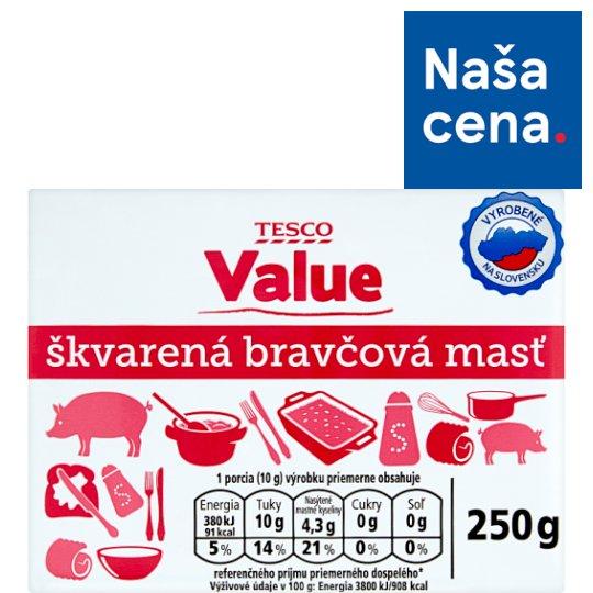 Tesco Value Škvarená bravčová masť 250 g