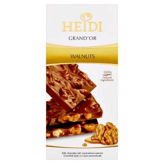 Heidi Grand'or Milk Chocolate with Caramelized Walnuts 100 g