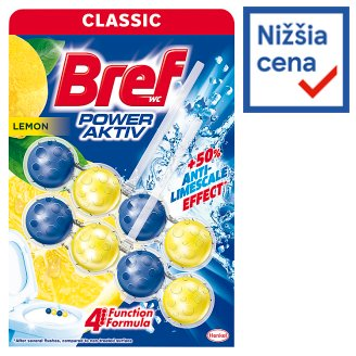 Bref Power Aktiv Juicy Lemon Solid Toilet Block 2 x 50 g