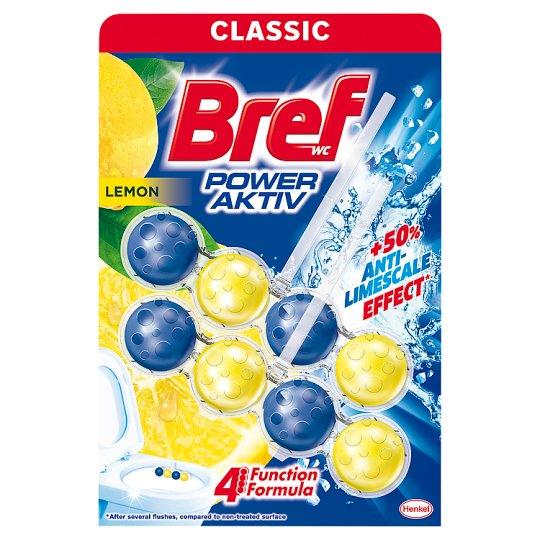 Bref Power Aktiv Juicy Lemon tuhý WC blok 2 x 50 g