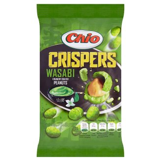 Chio Crispers Wasabi Shelled Roasted Peanuts Coated in Batter Flavoured with Wasabi 65 g