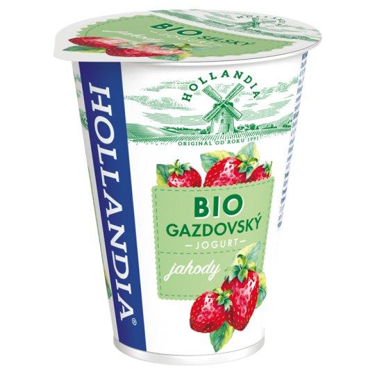 Hollandia Bio jogurt gazdovský jahody s kultúrou BiFi 180 g