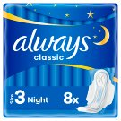 Always Classic Night Sanitary Towels Wings 8x