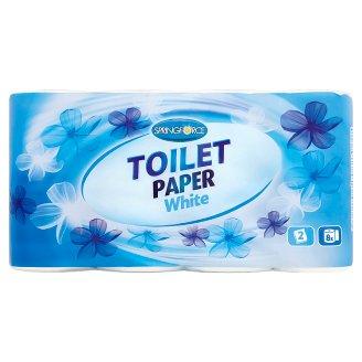 Springforce White toaletný papier 2 vrstvy 8 kotúčov