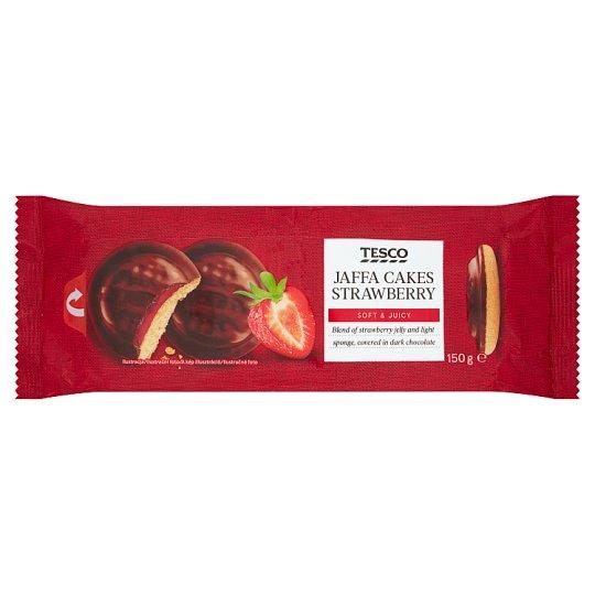 Tesco Piškóty s jahodovým želé polomáčané v horkej čokoláde 150 g