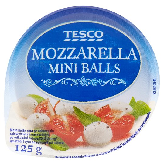 Tesco Mozzarella Mini Balls 125 g