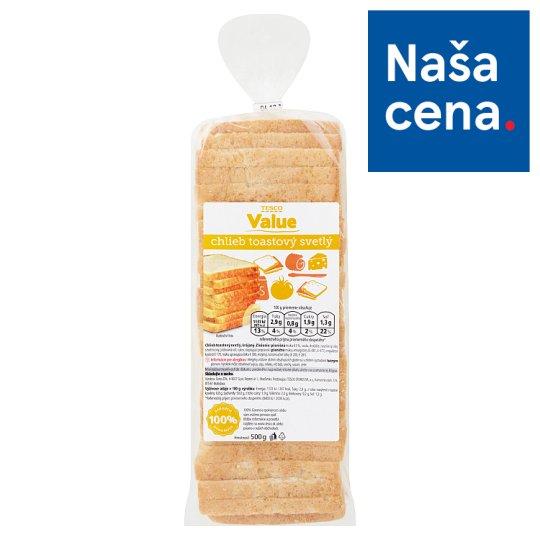 Tesco Value Light Toasted Bread 500 g