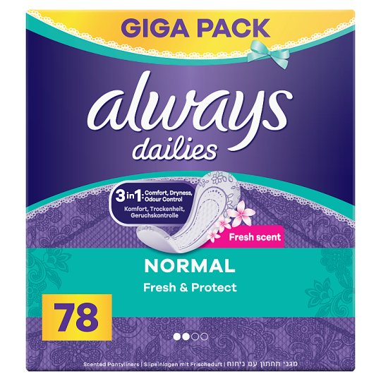 Always Dailies Fresh & Protect Panty Liners Normal Fresh x 78