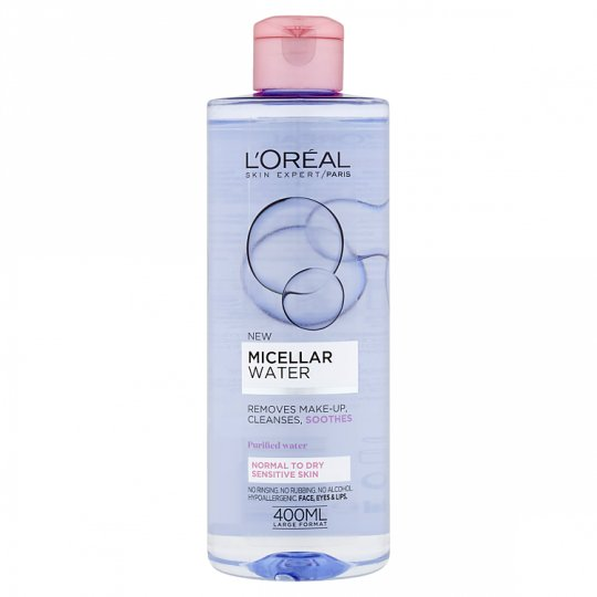 L'Oréal Paris Skin Expert Micelárna voda normálna až suchá, citlivá pleť 400 ml