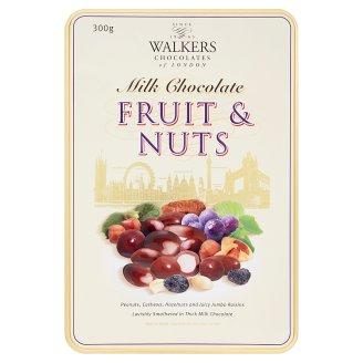Walkers Fruit & Nuts výber orechov a hrozienok v mliečnej čokoláde 300 g
