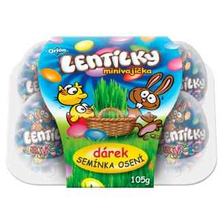 LENTILKY Mini Eggs in a Gift Box with Seeds 105 g