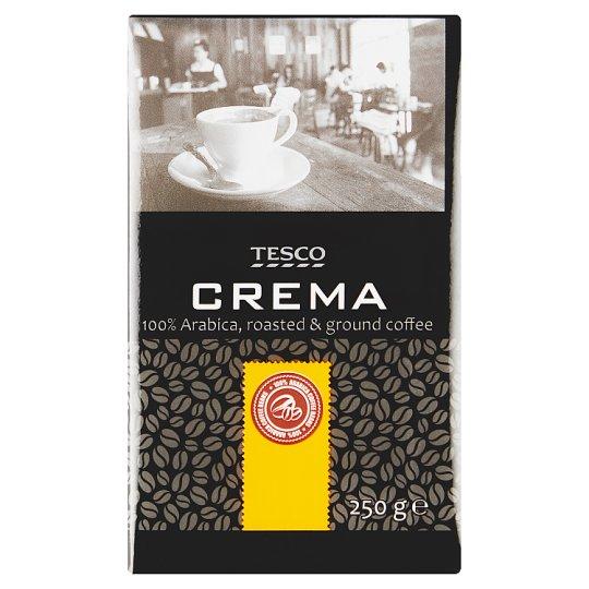 Tesco Crema pražená mletá káva 100% Arabica 250 g