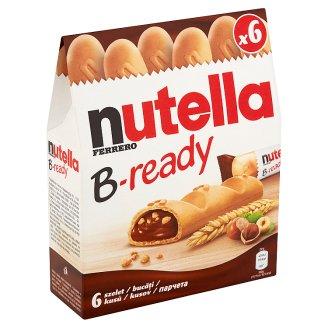 Nutella B-ready Oblátka plnená nátierkou z lieskovcov a kakaa a malými pšeničnými chrumkami 6 x 22 g