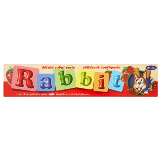 Mattes Rabbit Kids Toothpaste with Strawberry and Mint Flavour 45 g