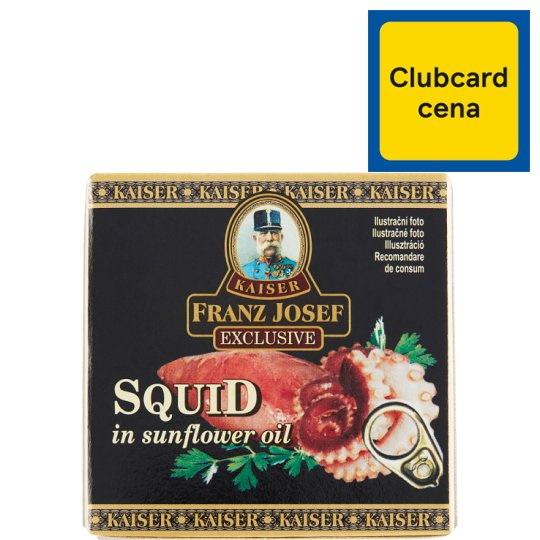 Kaiser Franz Josef Exclusive Squid in Sunflower Oil 80 g