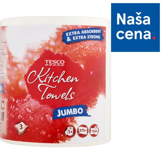 Tesco Jumbo Kitchen Towels 1 Roll