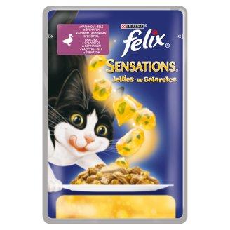 FELIX Sensations Jellies - s kačicou v želé so špenátom 100 g
