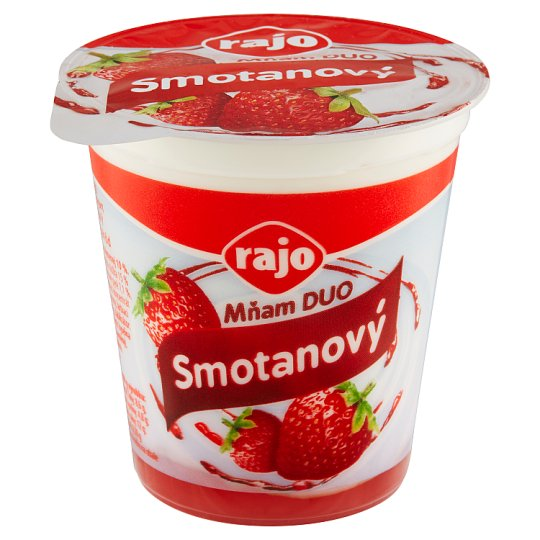Rajo Mňam Duo Creamy Yogurt Strawberry with Pieces of Strawberries 145 g