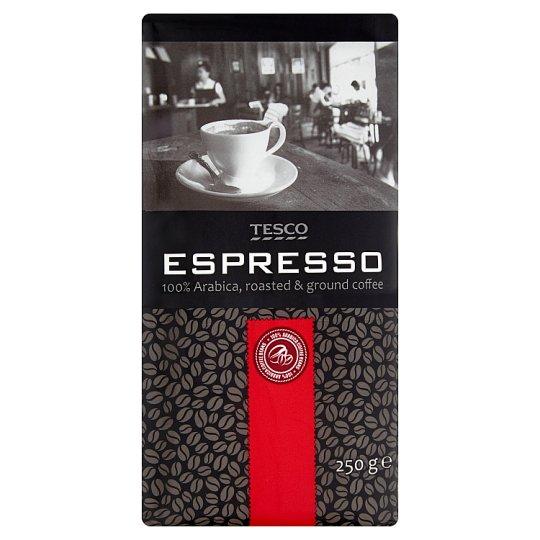 Tesco Espresso pražená mletá káva 100% Arabica 250 g
