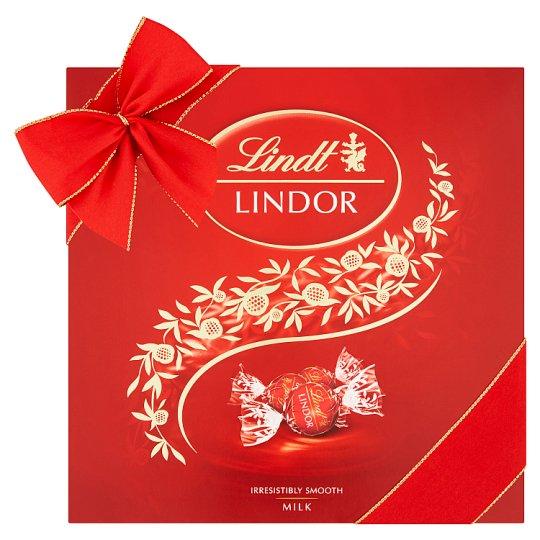 Lindt Lindor Mliečna čokoláda s jemnou tekutou náplňou 150 g